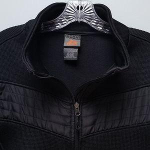 RBX | BLACK ZIPPER JACKET W/SIDE POCKETS, SZ XL
